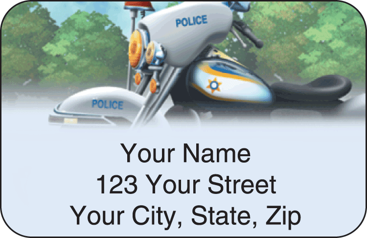 Police Address Labels - click to preview