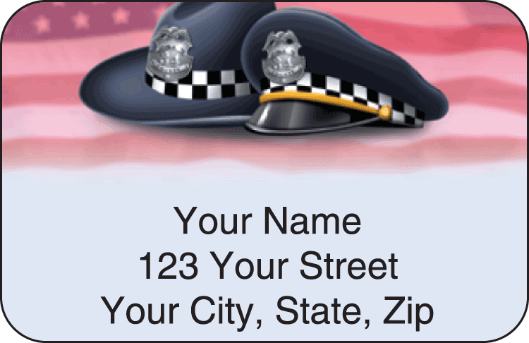 Enlarged view of Police Address Labels
