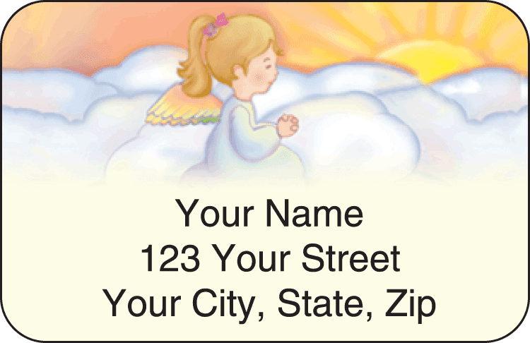 precious angels address labels - click to preview