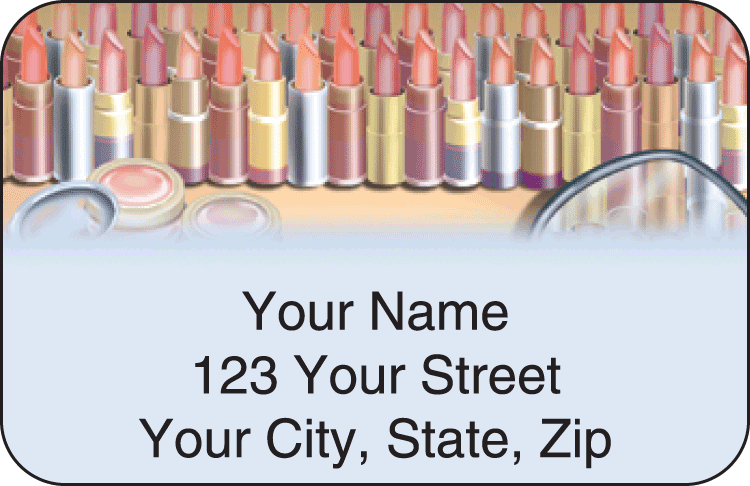 Pretty Faces Address Labels - click to preview