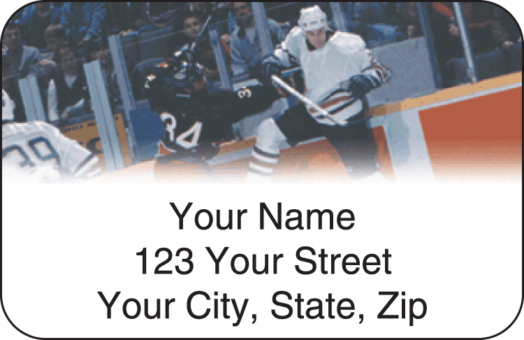 Pro Hockey Address Labels - click to view larger image