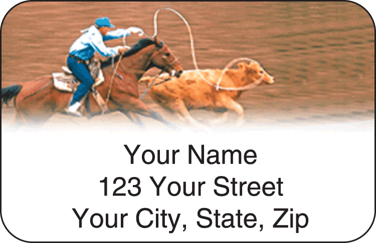Pro Rodeo Address Labels - click to view larger image