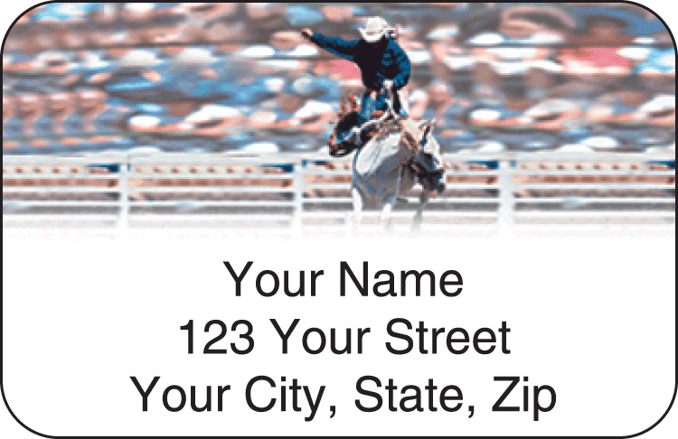 Pro Rodeo Address Labels - click to preview