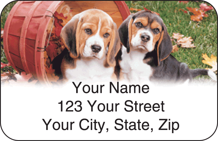 Puppy Pals Address Labels - click to view larger image