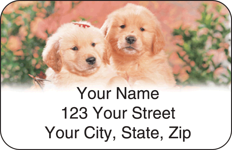 Puppy Pals Address Labels - click to preview