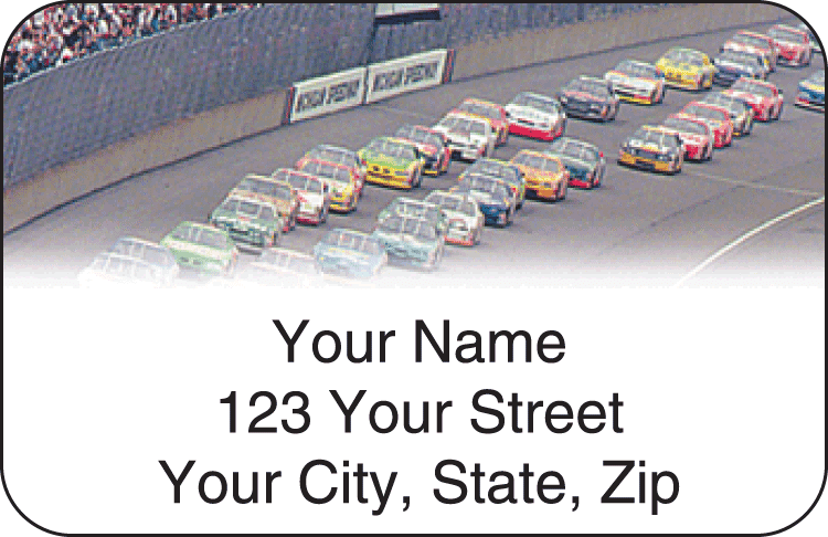 Racing Address Labels