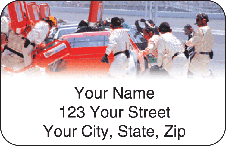 racing address labels - click to preview