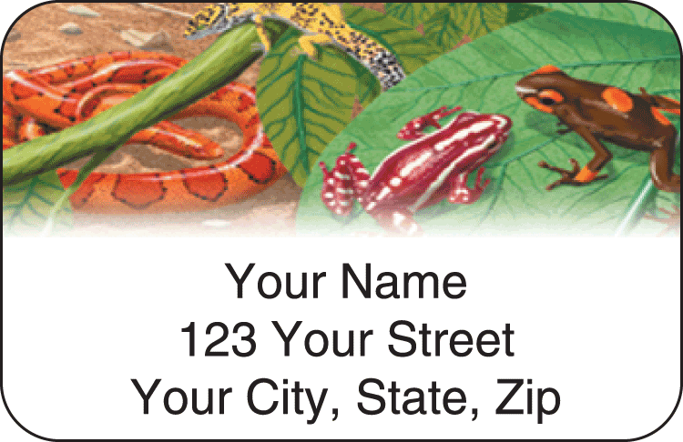 Reptilian Address Labels - click to view larger image