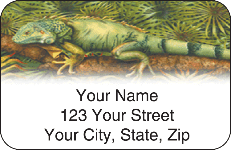 reptilian address labels - click to preview