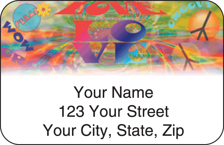Retro Address Labels