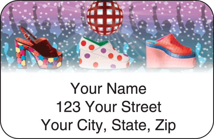 retro address labels - click to preview