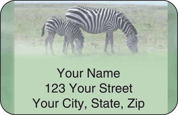 Safari Address Labels - click to view larger image