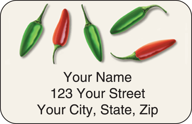 Salsa Address Labels - click to view larger image