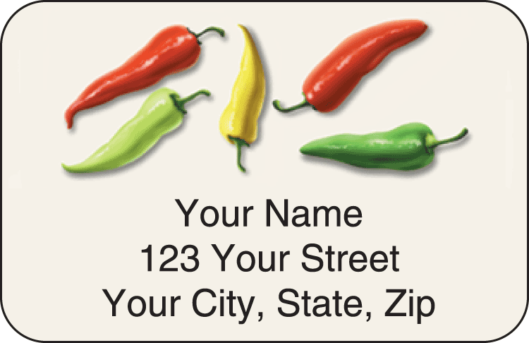 salsa address labels - click to preview