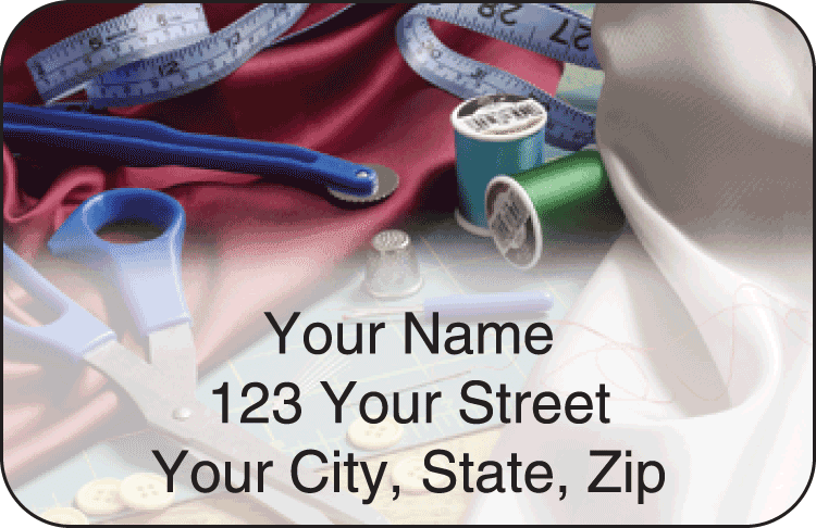 Sewing Address Labels - click to preview