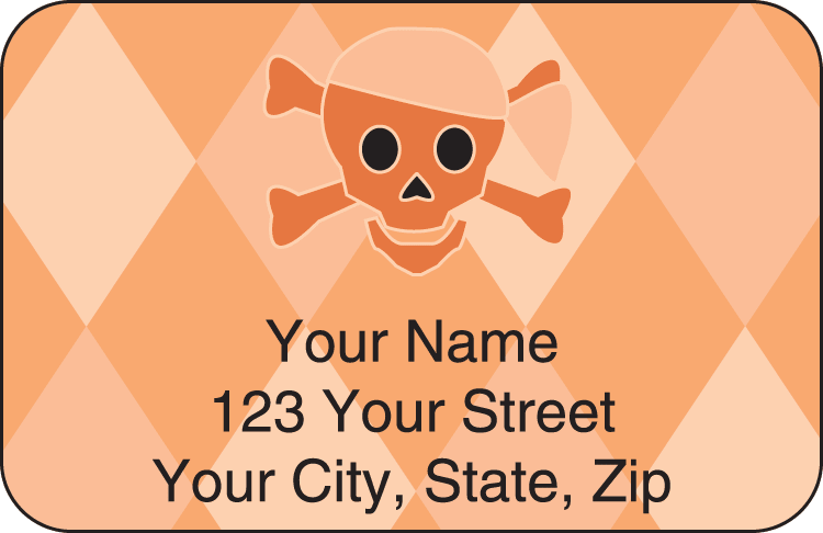 skullies address labels - click to preview