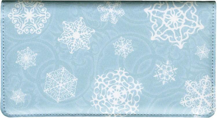 Snowflake Fabric Checkbook Cover - click to view larger image