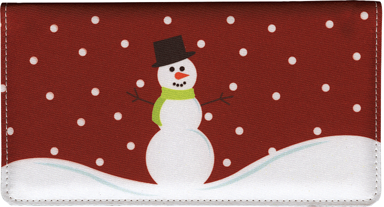 Snowman Fabric Checkbook Cover - click to view larger image