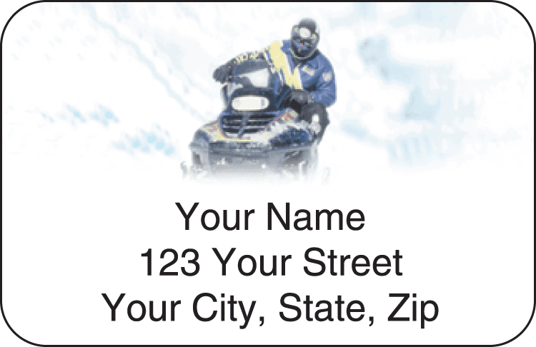 Snowmobile Address Labels - click to view larger image