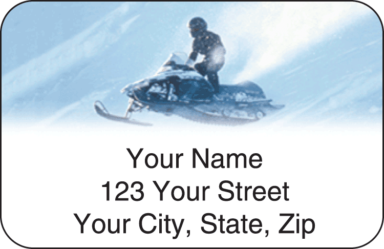 snowmobile address labels - click to preview