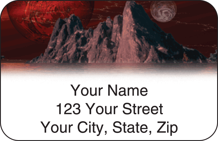 Spacescapes Address Labels - click to view larger image