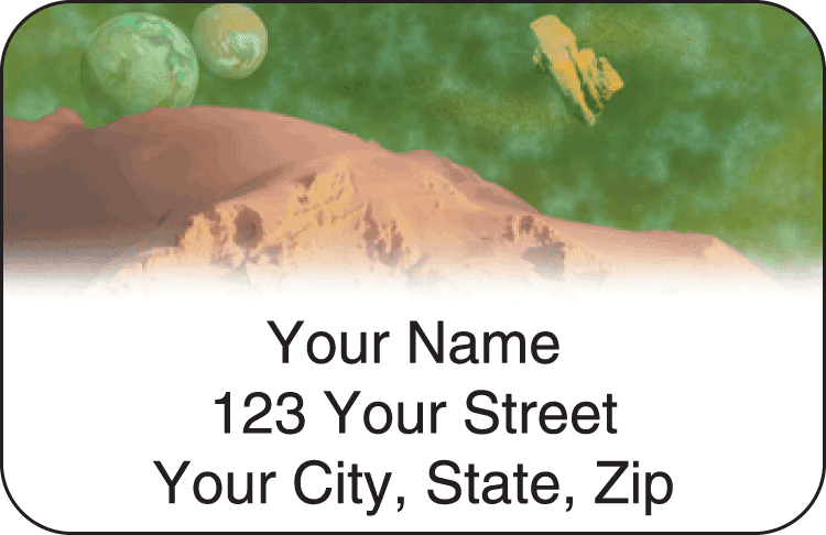 spacescapes address labels - click to preview