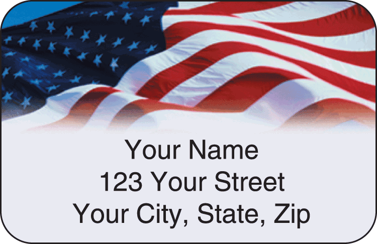 Stars and Stripes Address Labels - click to view larger image