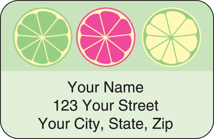 Summer Sweets Address Labels - click to view larger image