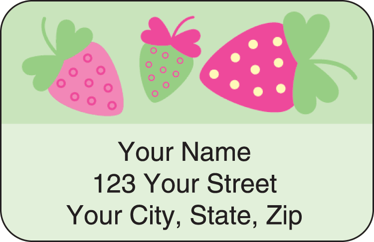 summer sweets address labels - click to preview