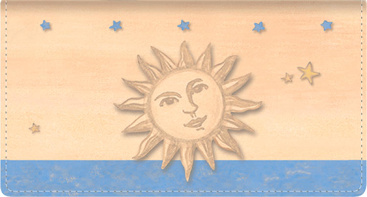 Sun & Moon Fabric Checkbook Cover