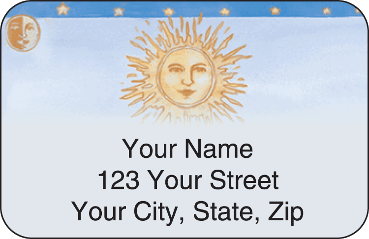 Sun & Moon Address Labels
