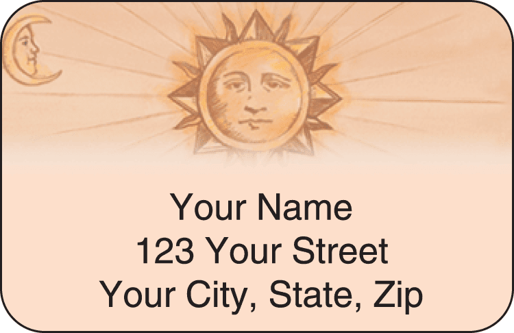 Sun & Moon Address Labels - click to preview