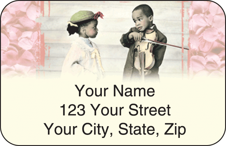 Sweet Mahogany Address Labels - click to preview
