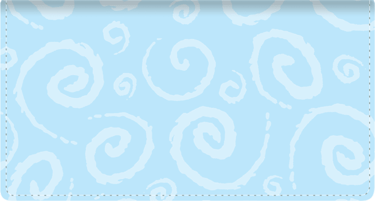 Swirls Fabric Checkbook Cover