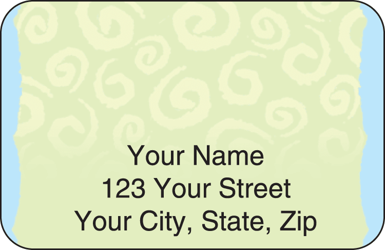 swirls address labels - click to preview