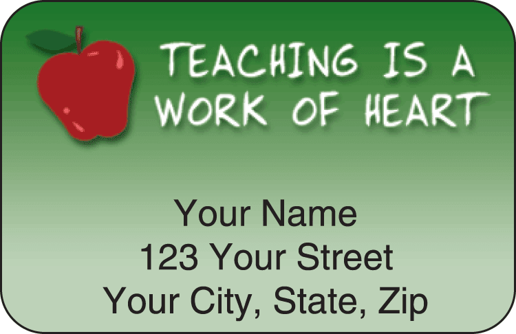 teachers address labels - click to preview