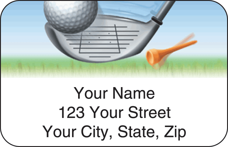 Tee to Green Address Labels - click to view larger image