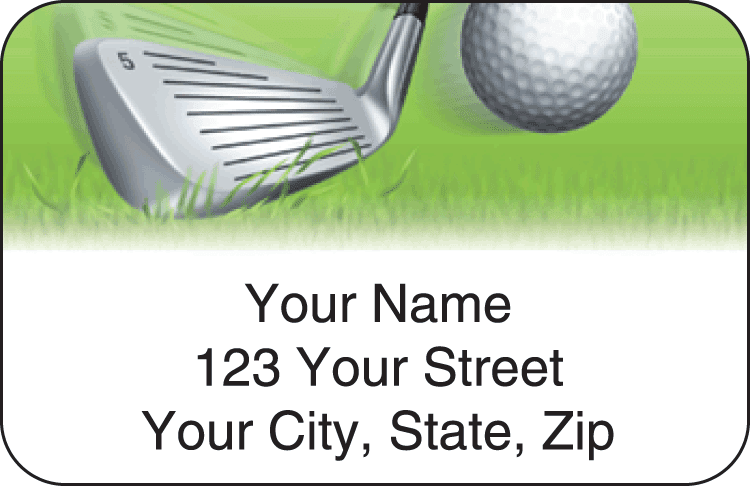 Tee to Green Address Labels - click to preview
