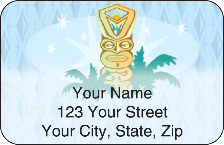 tiki address labels - click to preview