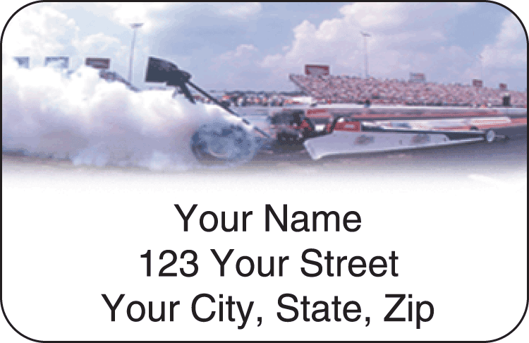 Top Fuel Address Labels - click to view larger image