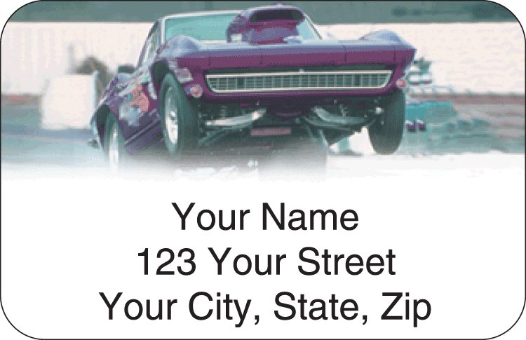 Top Fuel Address Labels - click to preview