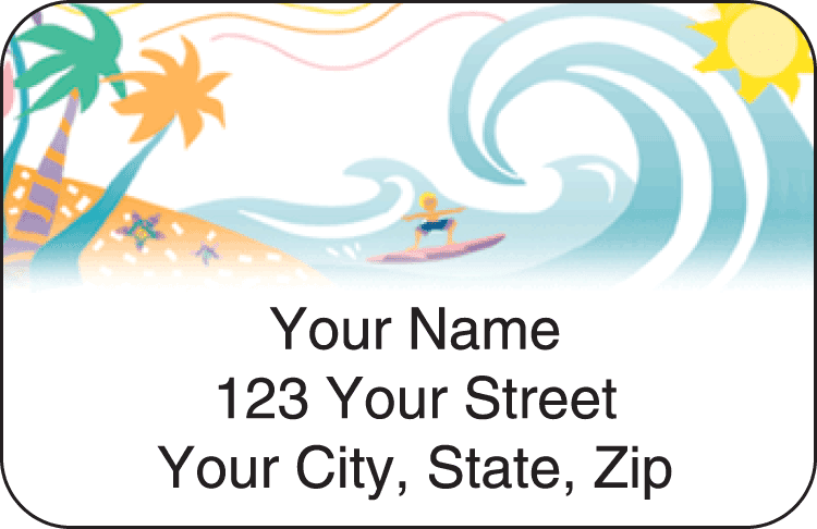 Tropical Moods Address Labels - click to view larger image