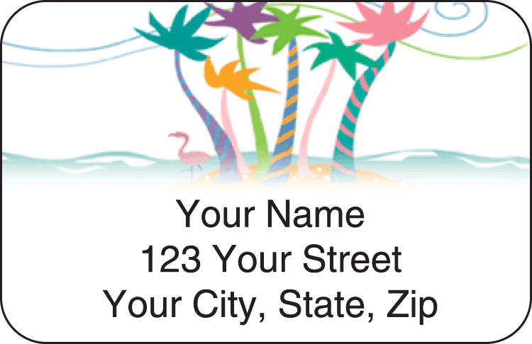 tropical moods address labels - click to preview