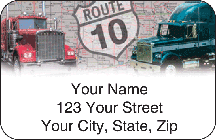 Truckin' Address Labels - click to view larger image