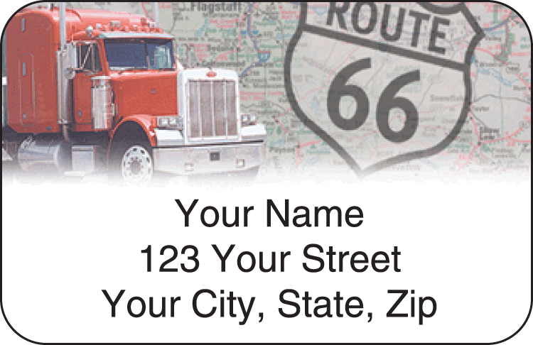 truckin' address labels - click to preview