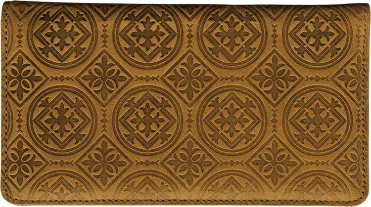 Tuscan Spice Leather Checkbook Cover - click to view larger image