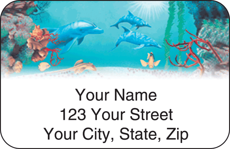 Undersea Fantasy Address Labels