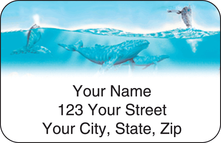 undersea fantasy address labels - click to preview