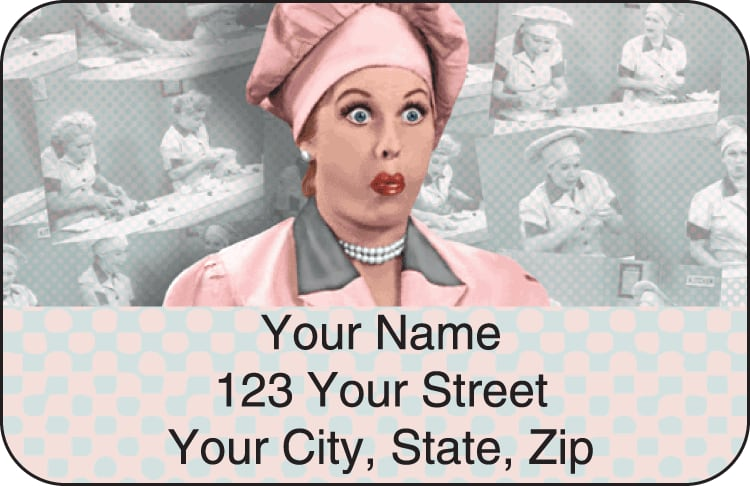 Vintage Lucy Address Labels