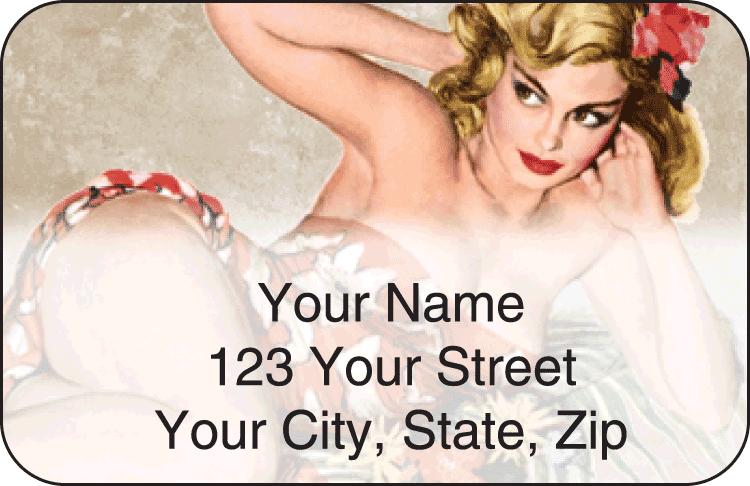 Vintage Pin-Ups Address Labels